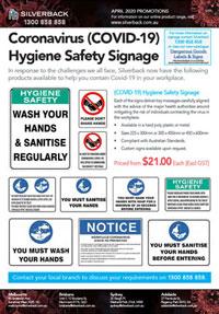 COVID-19 Hygiene Safety Signage Promotion