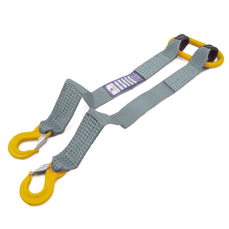 0.7Mt - 2 x 50mm, LC 2500kg per strap - Towing V-Bridle With Dual Straps & Snap