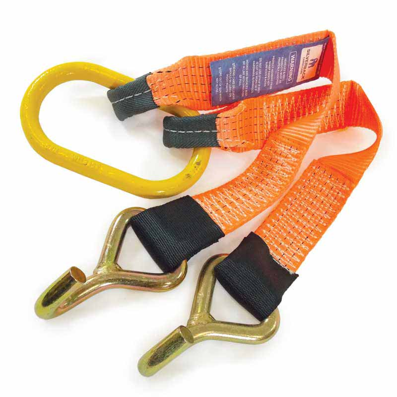 0.5Mt x 50mm, LC 2500kg - VE Commodore Towing V-Bridle With J-Hooks. ORANGE