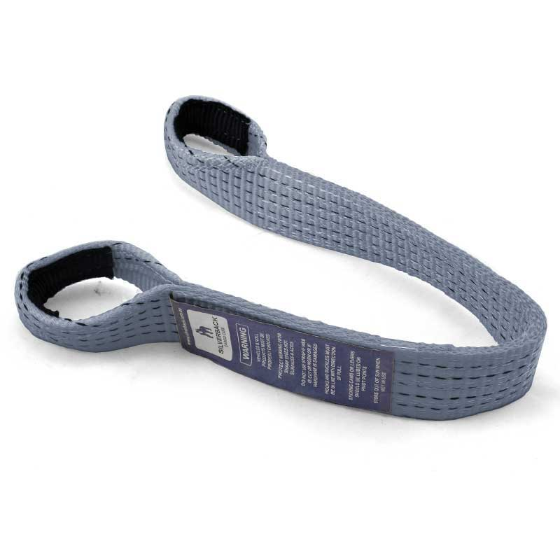 0.63Mt x 50mm, LC 2500kg - Axle Strap With 64mm Diamter Loop at each end. SILVER