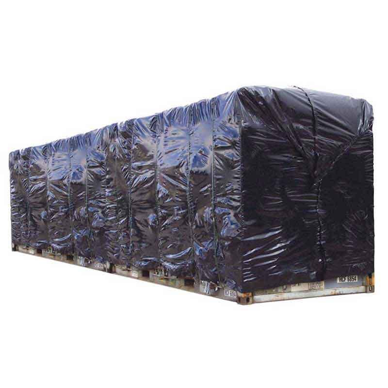 12.2m (40') Black Plastic Container Cover. 175Um thick