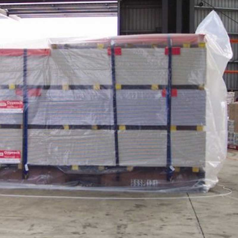 12.2m (40') Clear Plastic Container Cover. 175Um thick