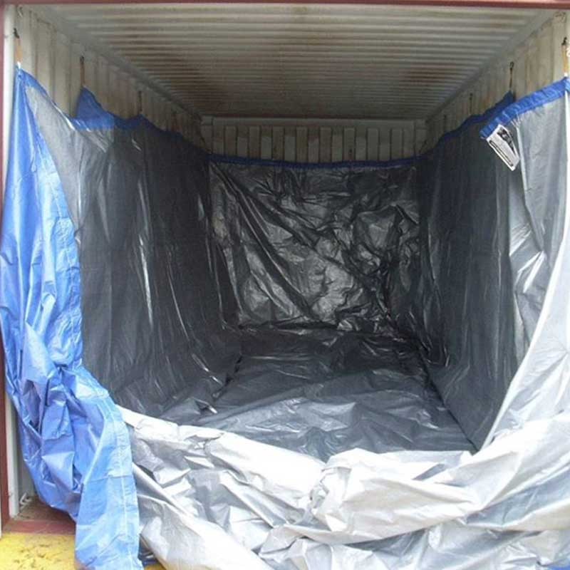 Woven PE Full Height Drive In Open Top Bulk Liner. With bands & Clips 6.1mt (20'
