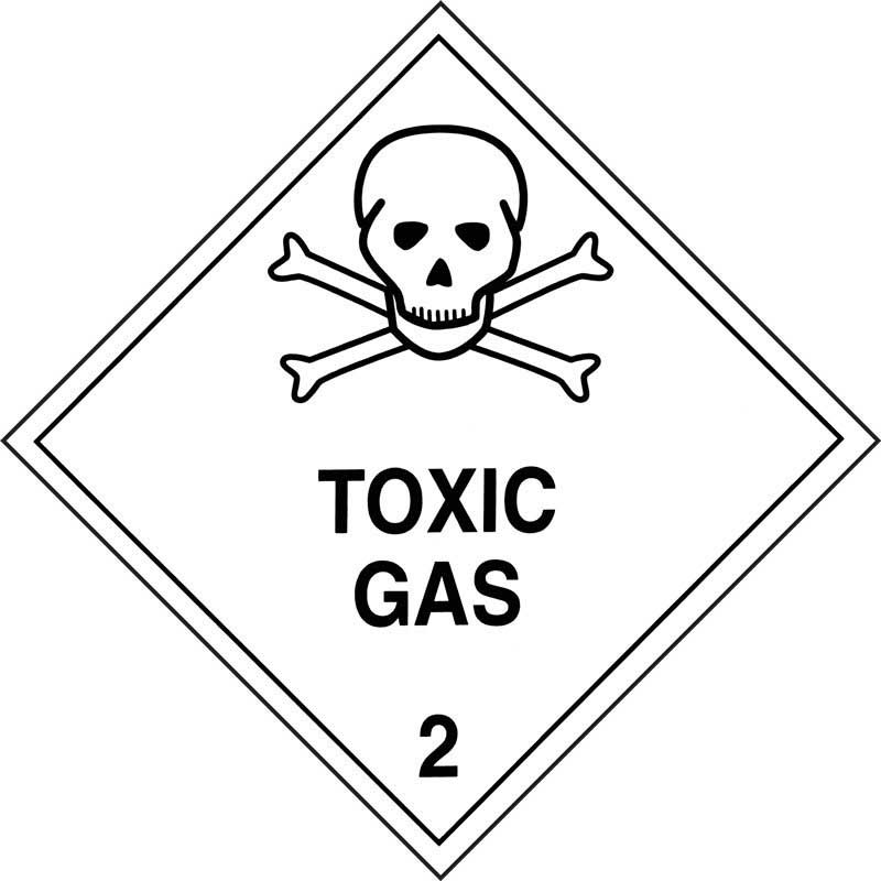 250mm Class 2.3 Toxic Gases Adhesive Label