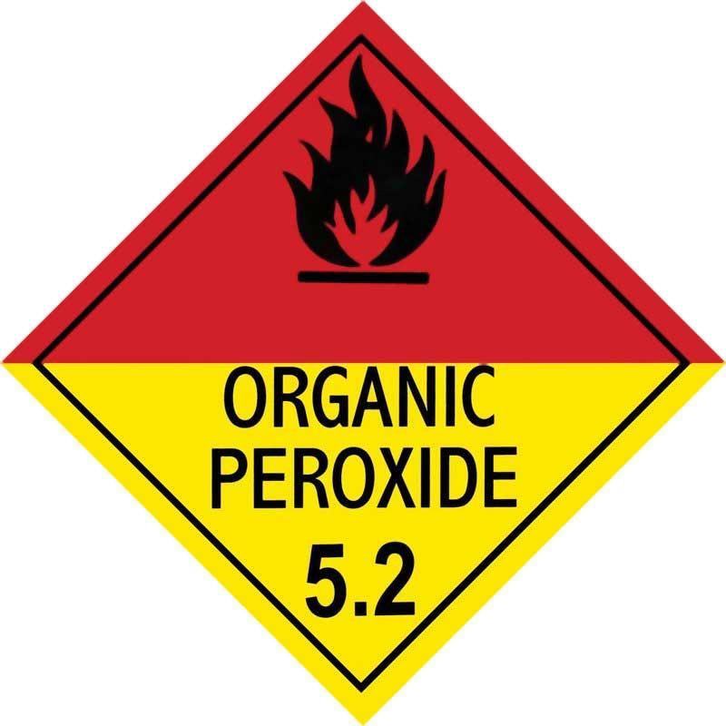 250mm Class 5.2 Organic Peroxide Adhesive Label