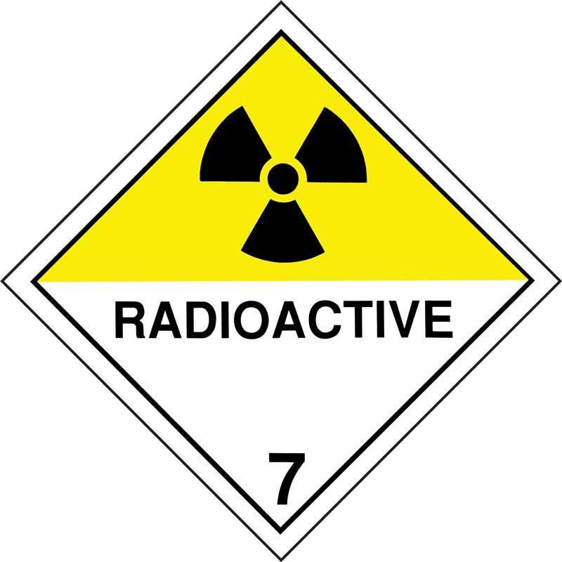 250mm Class 7D Radioactive Adhesive Label