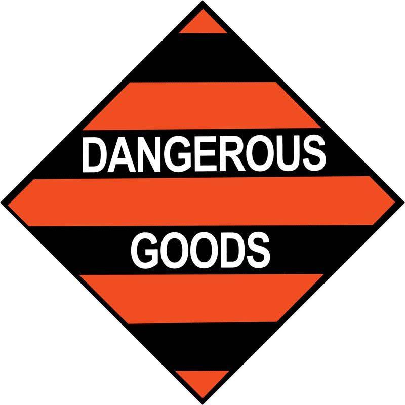 250mm Mixed Dangerous Goods. Adhesive Label