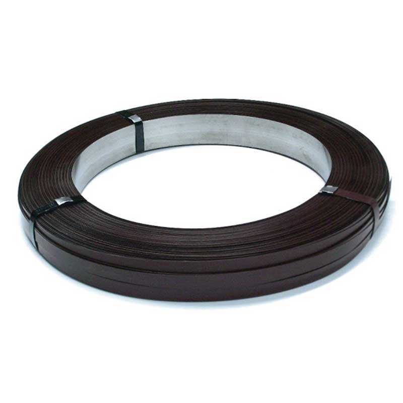 32mmW x 0.8mmT Roll Ribbon Wound High Tensile Steel Strapping - 45kg per roll