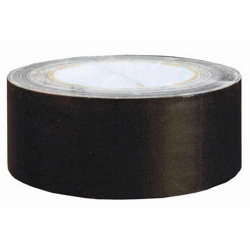 Black Cloth Tape. Polythene Coated. 48mmW X 25mL Roll