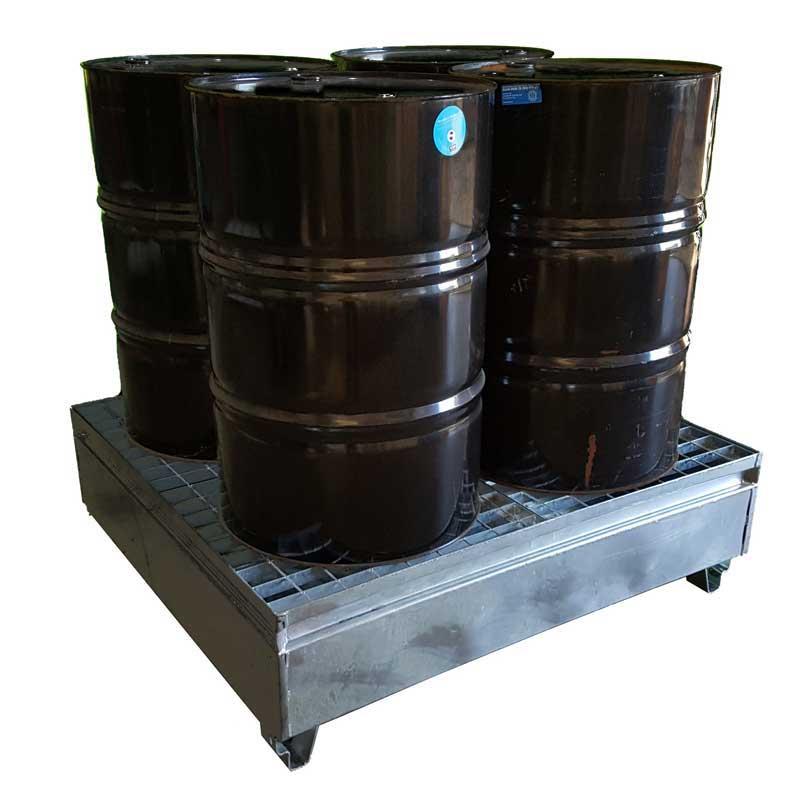 4 Drum Metal Spill Bund Galvanised