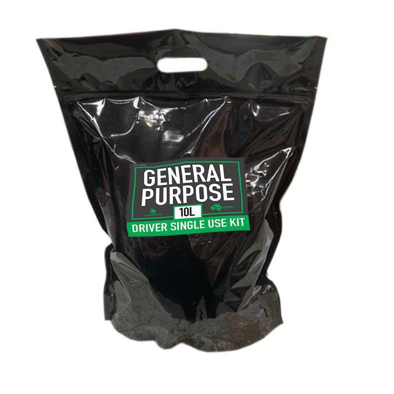 Drivers Spill Kit, General Purpose Single Use, 10L