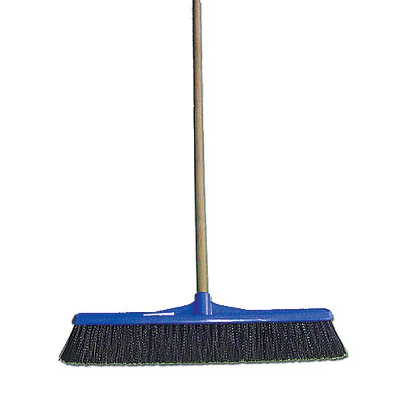 300mm Soft Bristle Broom with Timber Handle. Spill Response Broom