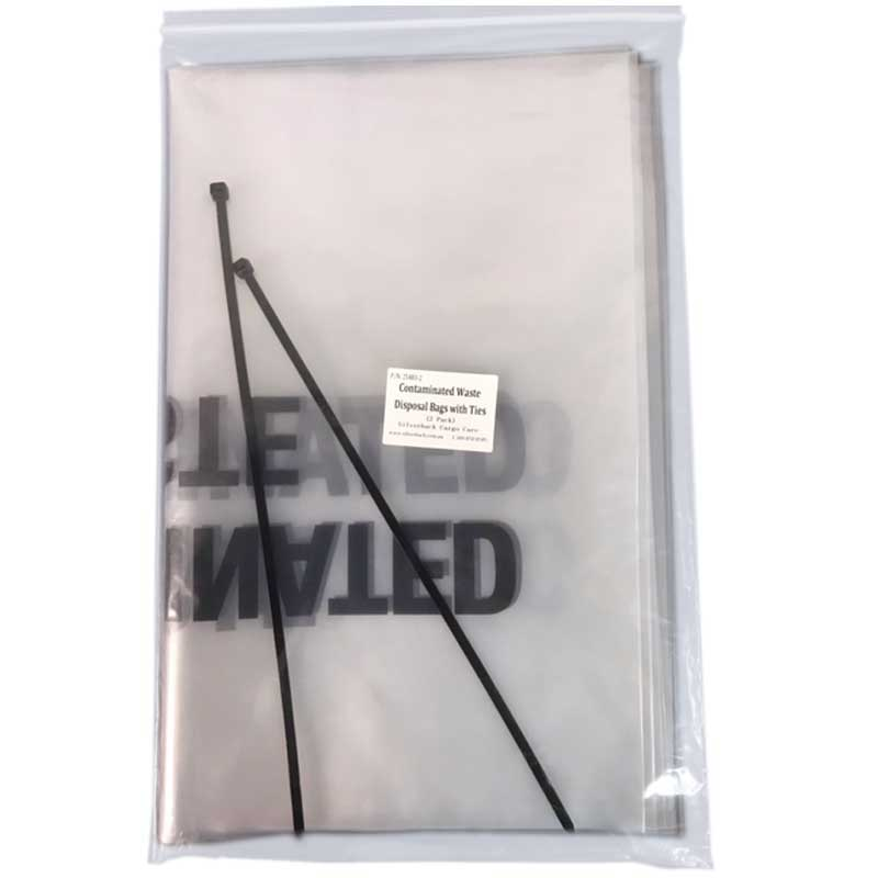 Contaminated Waste Disposal Bags - 700mm x 450mm. With Cable Ties (2 Pack)