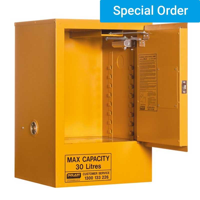 30ltr Flammable Liquid Storage, 1 door 1 shelf. Ext. size (mm)