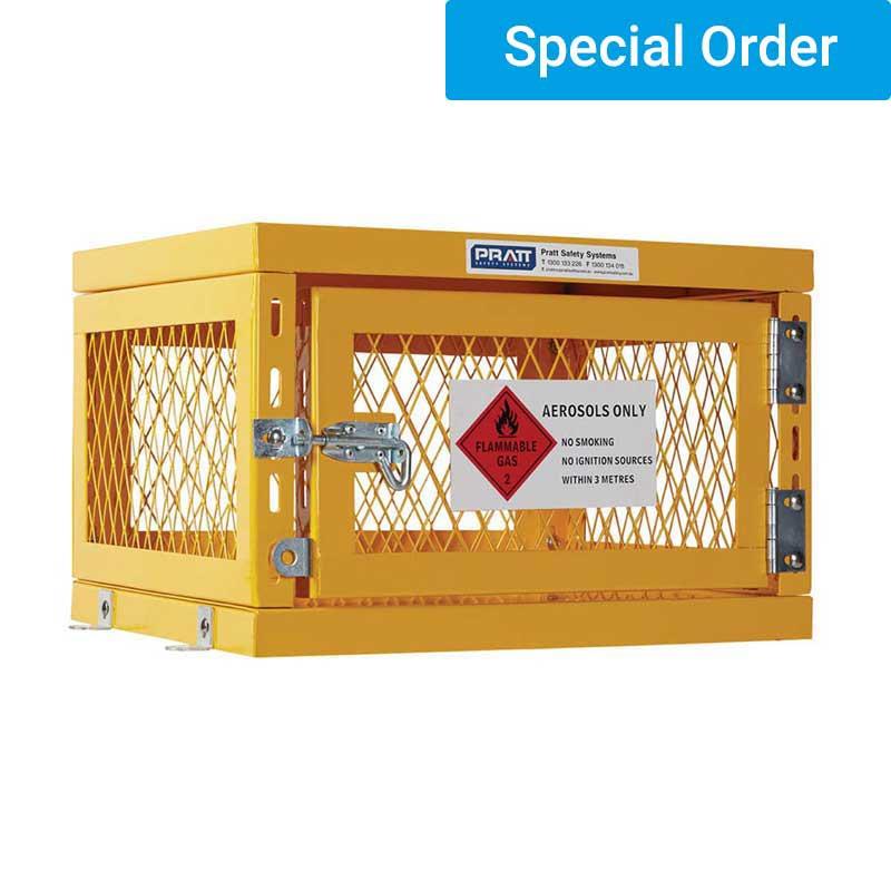 Aerosol Storage Cage. Single Shelf 1 Storage Levels. Holds Up To 42 Cans. (Assem