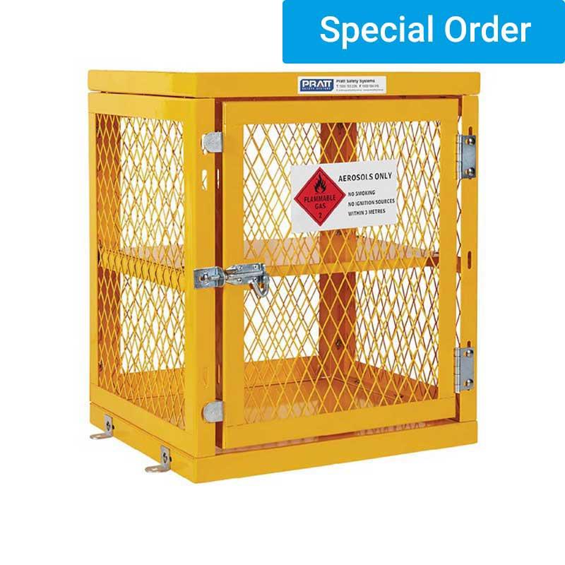 Aerosol Storage Cage. Single Shelf 2 Storage Levels. Holds Up To 84 Cans. (Assem