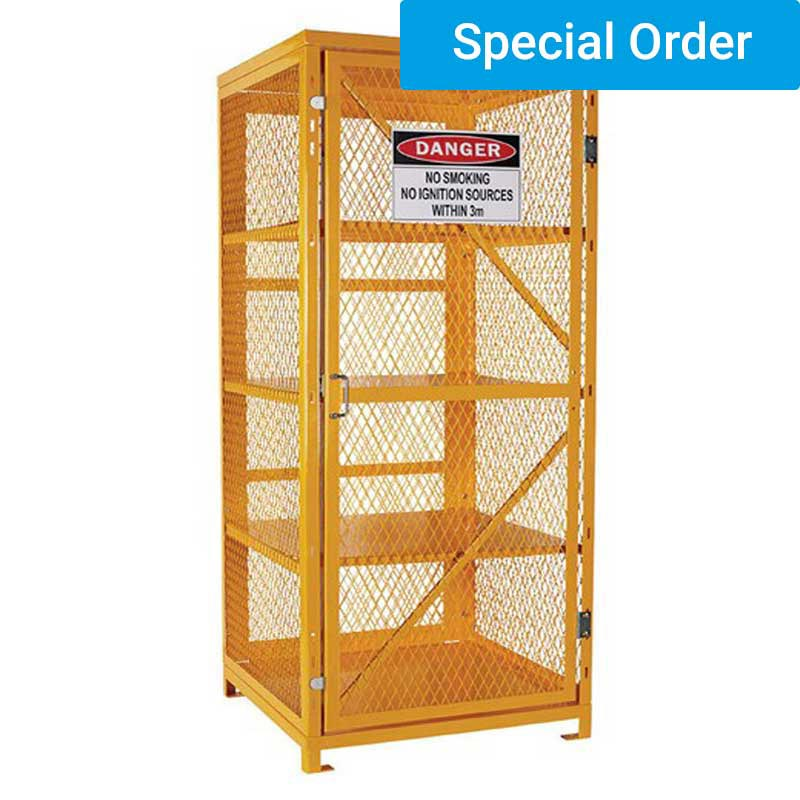 Aerosol Storage Cage. 4 Storage Levels. Holds up to 400 Cans (Assembly Required)