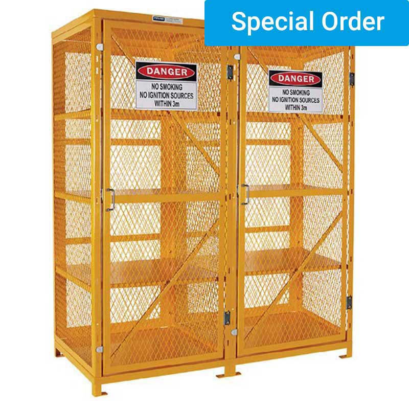 Aerosol Storage Cage. 4 Storage Levels. Holds up to 800 Cans (Assembly Required)