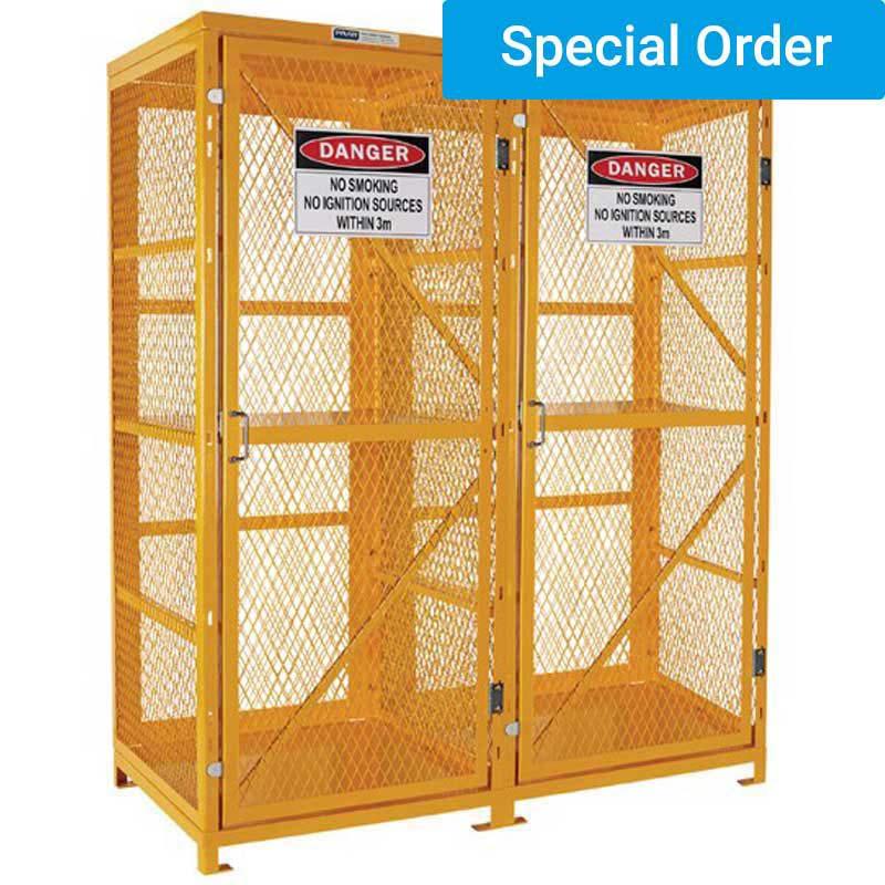 Forklift Gas Cylinder Storage Cage - 16 Forklift Cylinders 2 Level