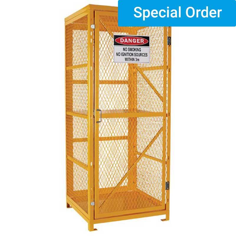 Forklift Gas Cylinder Storage Cage - 8 Forklift Cylinders 2 Level