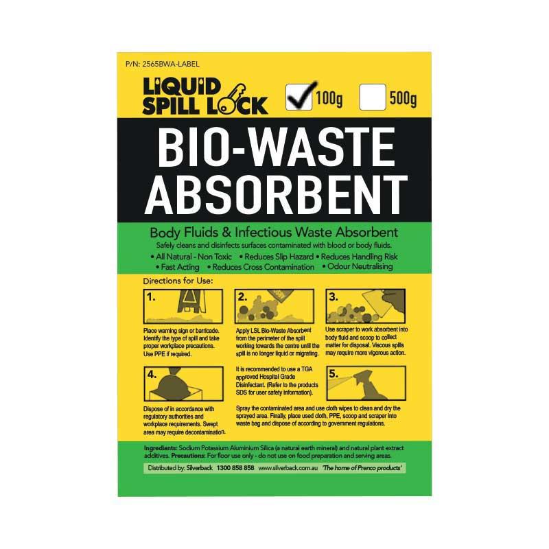 Liquid Spill Lock Bio-Waste Absorbent , 100gms