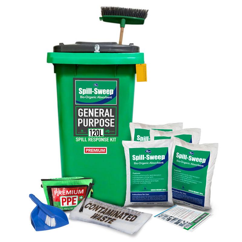 100L General Purpose, Spill Sweep Bio-organic Absorbent Prenco Premium Spill Res