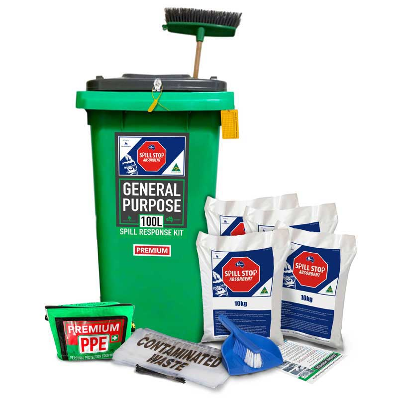 100L General Purpose, Spill Stop Mineral Absorbent Prenco Premium Spill Response