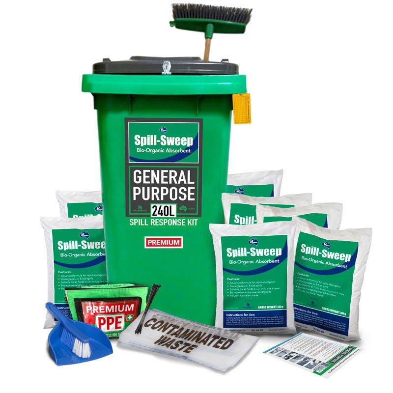 180L General Purpose, Spill Sweep Bio-organic Absorbent Prenco Premium Spill Res