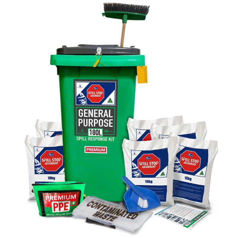 180L General Purpose, Spill Stop Mineral Absorbent Prenco Premium Spill Response