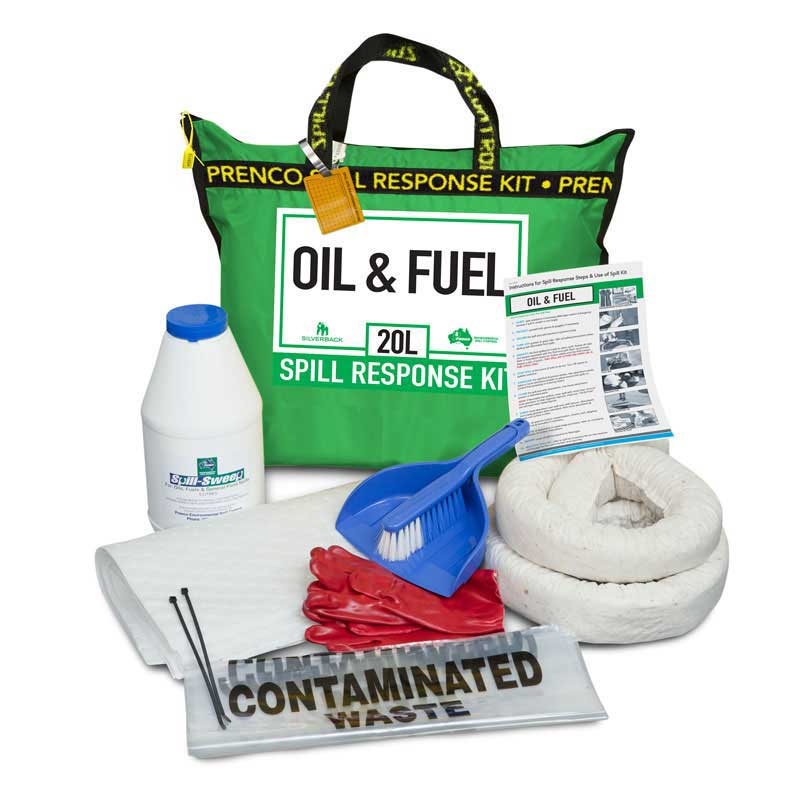 """20L Oil & Fuel """"Hydrocarbon"""" Compact Prenco Spill Response Kit"""
