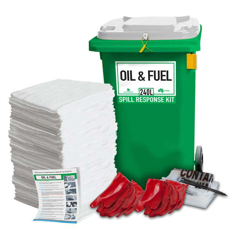"""240L Oil & Fuel """"Hydrocarbon""""  Prenco Spill Response Kit """"Pads Only"""""""