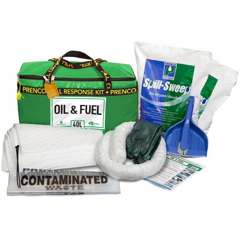 """40L Oil & Fuel """"Hydrocarbon"""" Compact  Prenco Spill Response Kit"""