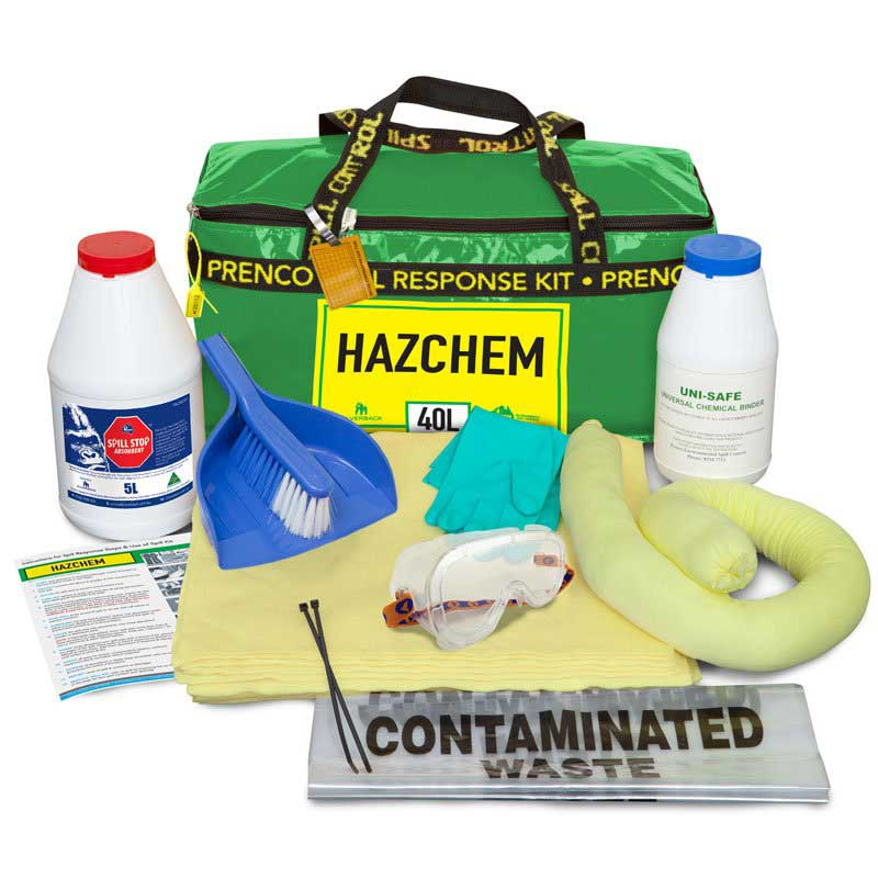 40L Uni-Safe Hazchem Prenco Compact Spill Response Kit