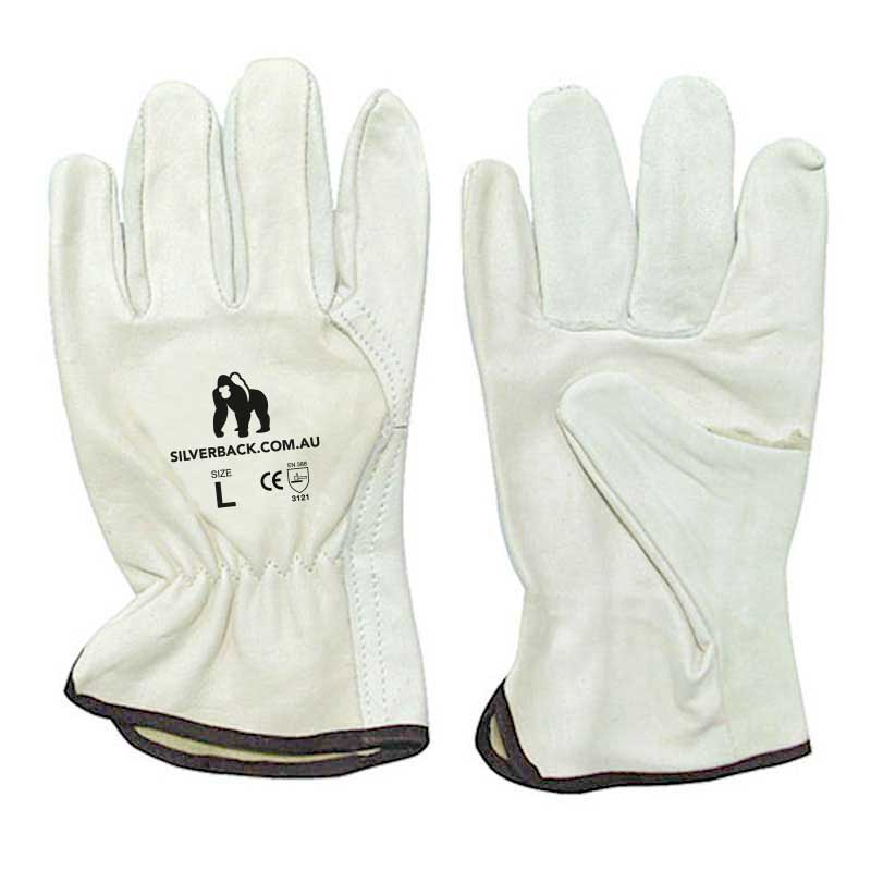 Silverback Smooth Premium Leather Riggers Gloves