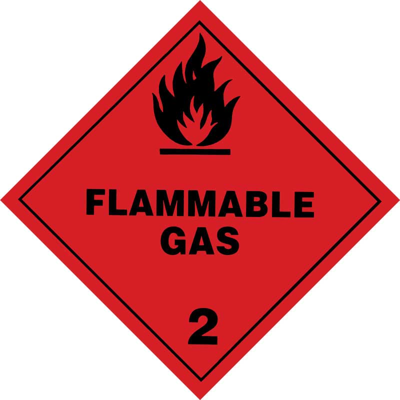 Dangerous Goods Class 2.1 Flammable Gas