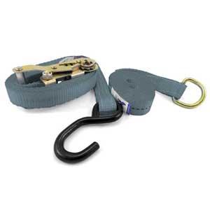 Universal Ratchet Tie Down  Kit, S-Hook & D-Ring. 6m x 25mm, LC 500kg.
