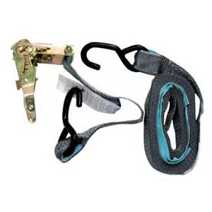 Ratchet Tie Down Kit, S-Hook. 6m x 35mm, LC 500kg. SILVER