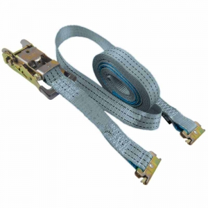 E-Track Ratchet Tie Down Kit. 6m x 35mm LC1000kg. SILVER