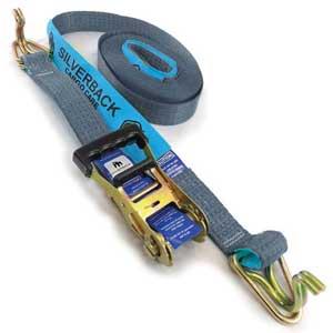 Ratchet Tie Down Kit, Hook & Keeper. 9m x 50mm, LC 2500kg. SILVER