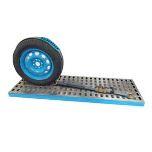 Vehicle Tiedown System, Deck Cleat. 3m x 50mm, LC 2500kg. SILVER