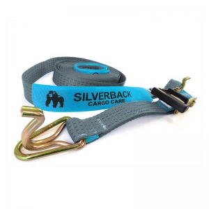 Ratchet Tie Down Kit, Hook & Keeper. 11m x 50mm, LC 2500kg. SILVER