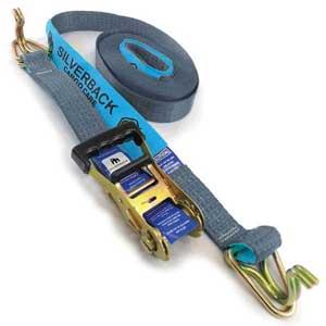 Ratchet Tie Down Kit, Hook & Keeper. 13m x 50mm, LC 2500kg.  SILVER