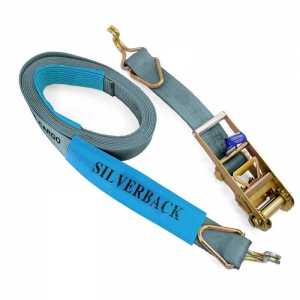Ratchet Tie Down Kit, Hook & Keeper. 9m x 75mm, LC 5000kg  SILVER