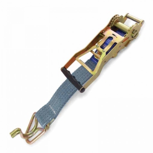 Reverse Ratchet & Tail Strap Assembly, Hook & Keeper. 500mm x 50mm, LC 2500kg. S