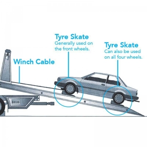Vehicle Towing Tyre Skate. CHARCOAL. (Sold as each)