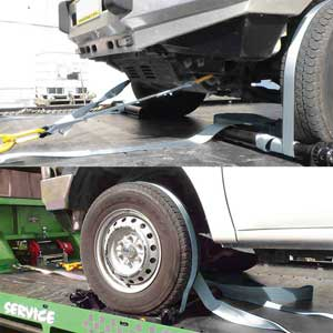 0.5Mt - 2 x 50mm, LC 2500kg per strap - Towing V-Bridle With dual Straps & Snap