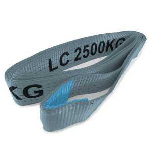 2.6Mt x 50mm, LC 2500kg - Strap With Single 85mm Diameter Loop.