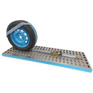 3.15Mt x 50mm, LC2500kg Large Vehicle Wheel Straddle Strap,Single 83mm Dia Loop