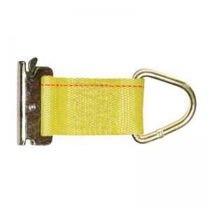 150mm x 50mm E Track Rope Tie Off Fitting, 450kg  750kg LC   YELLOW.