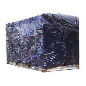 6.1m Black Plastic Container Cover 175um
